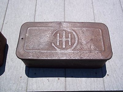 Early Vintage Ih International Harvester Tractor Tool Box Wood Bottom