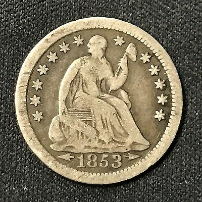 1853-O Seated Liberty Half Dime .900 Silver New Orleans