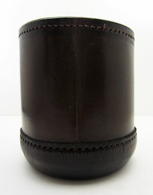 Vintage leather professional dice cup near mint