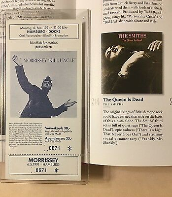 1991 Full Morrissey Concert Ticket Hamburg Germany The Smiths Kill Uncle Tour