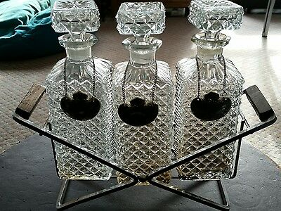 1970s crystal  decanters