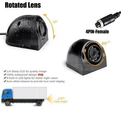 COLOR CCD CAR SIDE VIEW CAMERA BACKUP CAMERA Waterproof FOR TRUCK RV BUS TRAILER