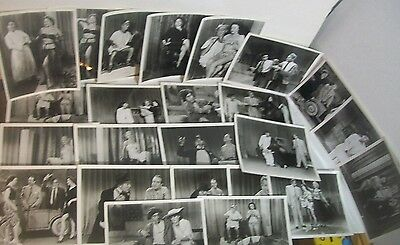 Lot/Set of 24 stills from UNKNOWN early/mid 1950s BURLESQUE stripping movie film