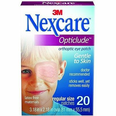 Nexcare Opticlude Eye Patch Regular Size - 3 Pack (3x20 Patches)