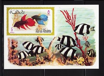 Damselfish black-white Fish - Deb Flo Finding Nemo - MNH Imperf. Souvenir Sheet