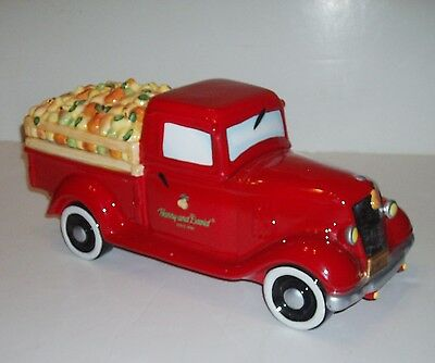 """1934 1935 Ford Truck HARRY and DAVID 15"""" COOKIE JAR w/ Pears IH Chevrolet Dodge"""