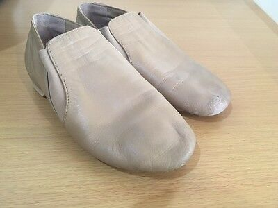 Bloch Jazz Shoes Tan Size 1.5 Dance, Great preused condition
