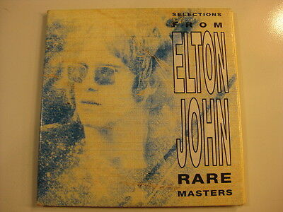 Elton John USA double promo CD for Rare Masters in card sleeve 25 songs