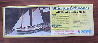 Vintage The Sharpie Schooner All Wood Model Midwest Products New Box Opened