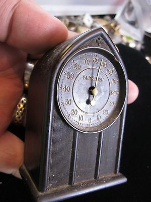RARE ThermoClock THERMO CLOCK House Hold Weather Thermometer.Springfield, Ohio