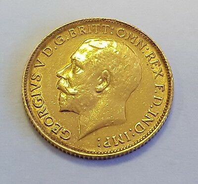 1913 Great Britain 1/2 Sovereign Gold George V Brilliant Great Condition