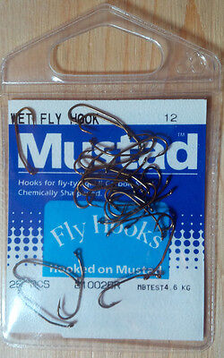 Mustad 81002BR, Size 12, Pkg of 25, Wet Fly Hook, Chemically Sharpened