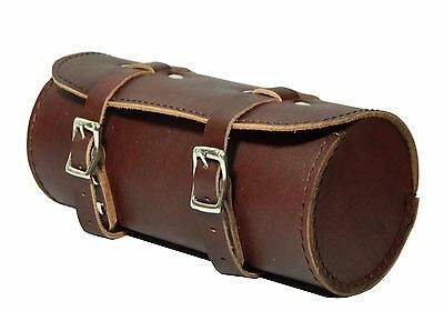 Real Leather Bicycle Saddle Bag Utility Tool Box kit outdoor Mountain Rocker