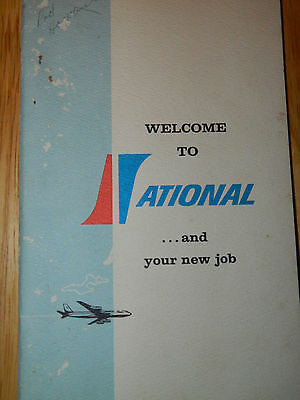 Vintage National Airlines Welcome to Your New Job Book