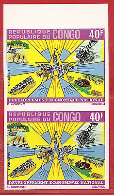 Congo,  Economic developpement  Imperf. pair   MNH.