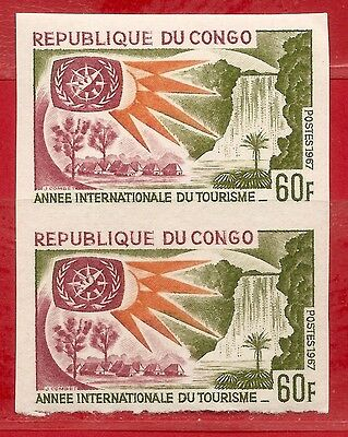 Congo. Tourism Year  Imperf. pair 1967  MNH.
