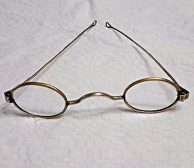 Antique  1880 15K  Gold Spectacles eye glasses..Super RARE...being 15 Kt GOLD