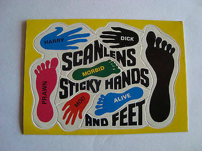 Scanlens Sticky Hands and Feet