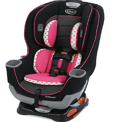 Graco Baby Extend2Fit Convertible Car Seat, Kenzie - NEW