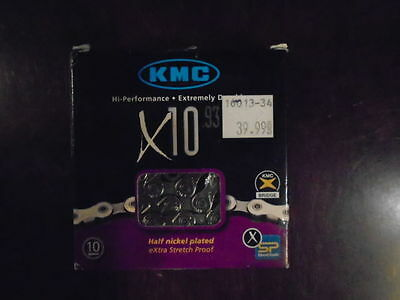 Kmc Bicycle Chain X10.93, 1/2X11/128Po, 10S, New In The Box!