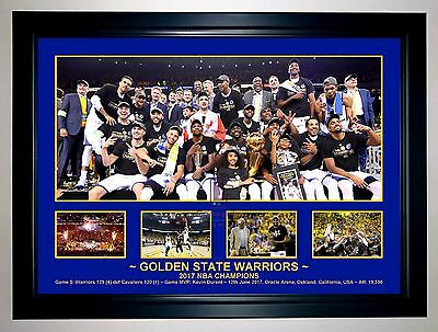 Golden State Warriors 2017 Nba Champions Photo Collage Print/framed Curry Durant