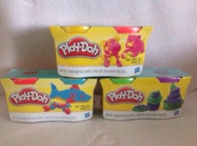 Brand new Play Doh 3 2 packs 6 different colours