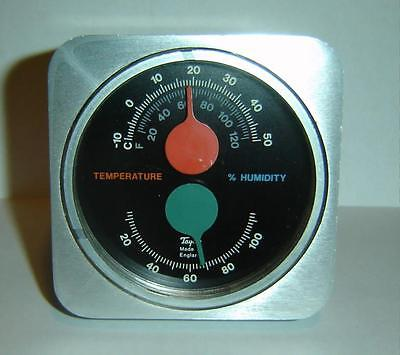 Vintage Kenneth Grange TAYLOR England METAL Thermometer Humidity MARINER