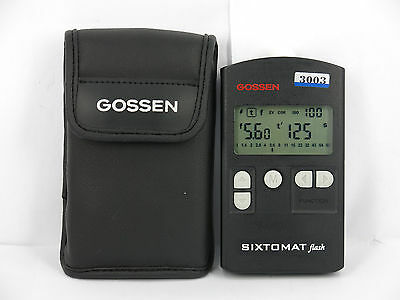Gossen Sixtomat Flash Belichtungsmesser W/CASE FREE SHIPPING JAPAN