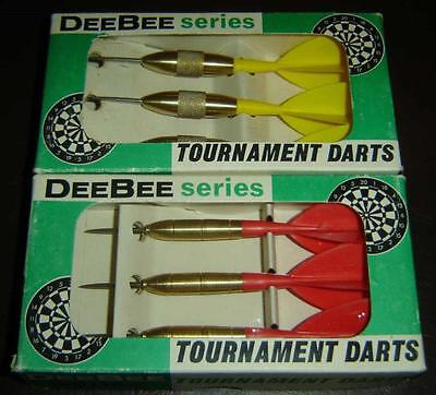 2 SETS OF DeeBee SERIES TOURNAMENT BRASS TIPPED  DARTS in ORIGINAL BOX ENGLAND