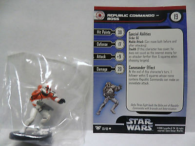 Republic Commando Boss,Champions Of The Force 33/60 Star Wars Miniatures COTF