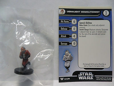 Ugnaught Demolitionist,Champions Of The Force 59/60 Star Wars Miniatures COTF