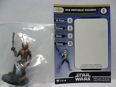 Old Republic Soldier,Champions Of The Force 6/60 Star Wars Miniatures C.O.T.F.