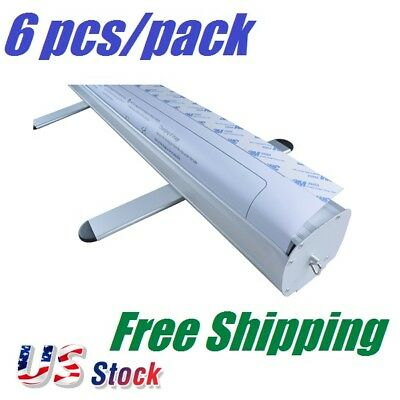 "6 pcs/ pack 33""W x 79""H Standard Retractable / Roll Up Banner Stand (Stand Only)"