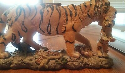 tiger with baby tiger figurine