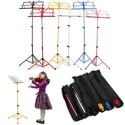 Sheet Music Metal Stand Adjustable Holder Folding Foldable with Carry Bag Case
