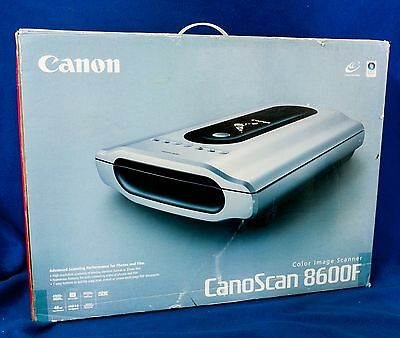 Low Use Canon Canoscan 8600F 48-Bit Film, Photo & Document Scanner Film Holders