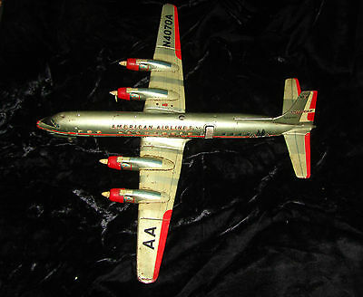 Vintage Yonezawa American Airlines Tin Toy Plane battery operated Parts  /Repair