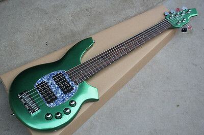 New arrived 6 strings electric bass guitar in green color