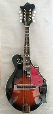 Hand carved top F hole mandolin with  spruce body in sunburst color with big bag