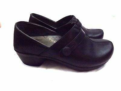 Dansko Women's Loafers US 8.5-9 M EU 39 Slip on Shoes Black Leather