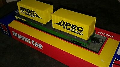 Freight Car HO model train - NR IPEC container wagon