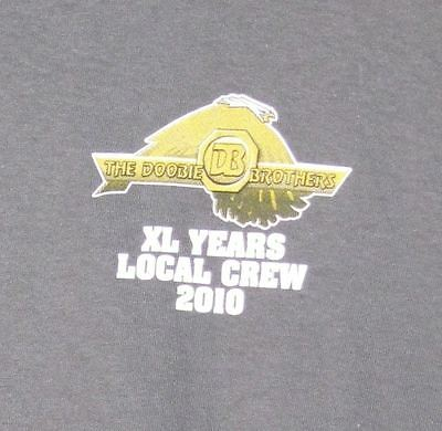 Doobie Brothers Rare 2010 Forty Years Local Crew Unworn Tour Shirt Mint Med