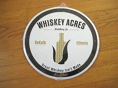 Whiskey Acres Distilling Co. Metal Tin  Sign
