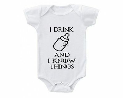 Game Of Thrones I Drink And I Know Things Onesie or Tshirt