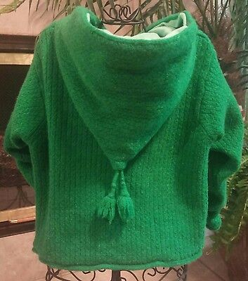 Baby Gap Baby Girls' Green Knit Hooded Sweater, size 18-24 months