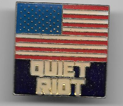 Vintage Quiet Riot American Flag (Tour?) Music Group old enamel Pin