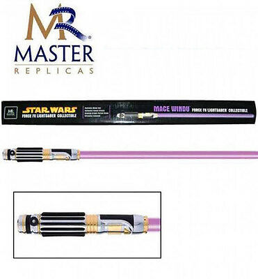 MR Master Replicas Star Wars Mace Windu purple Lightsaber FX metal Limited-NEW