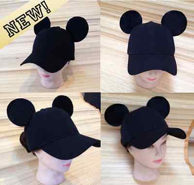 Adult Mickey Mouse Ears Baseball Cap! (Snapback) HANDMADE
