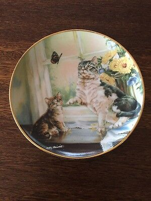 Franklin Mint Limited Edition Cat Plate