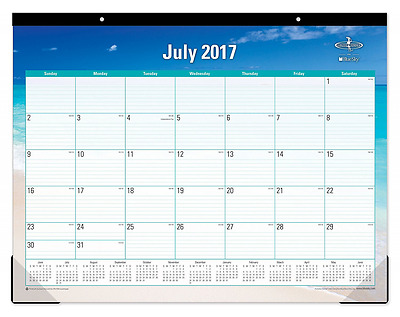 "Blue Sky 2017-2018 Academic Year Monthly Desk Pad Calendar, 22"" x 17"", Endless"